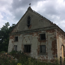 Old Mennonite church building in Wymysle, Poland
