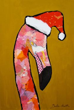 Christmas Flamingo 3