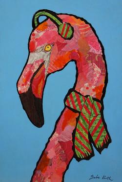 Christmas Flamingo 1