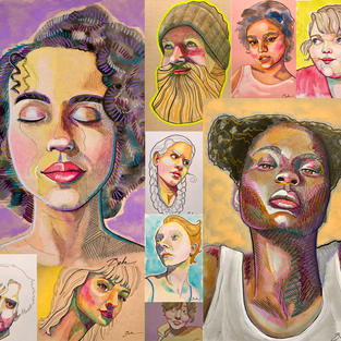 Stylized Watercolor Portraits