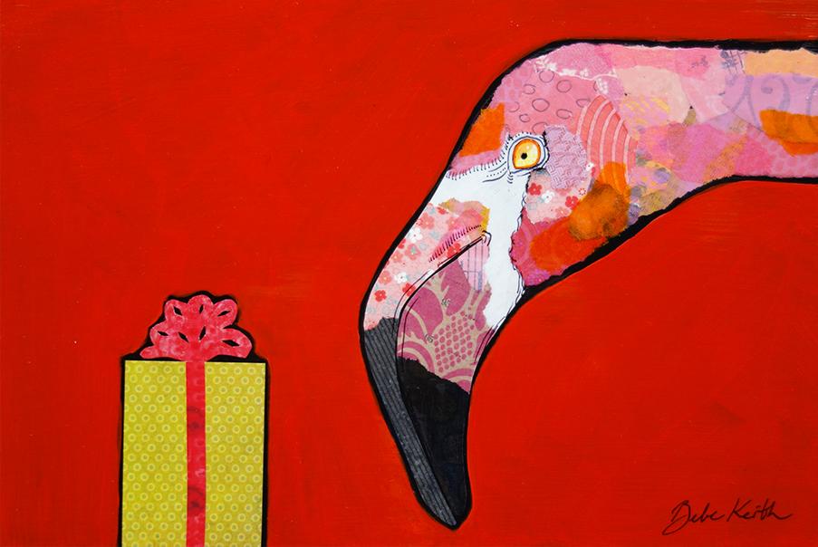 Christmas Flamingo 2