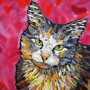 Cat Portraits (Collage)