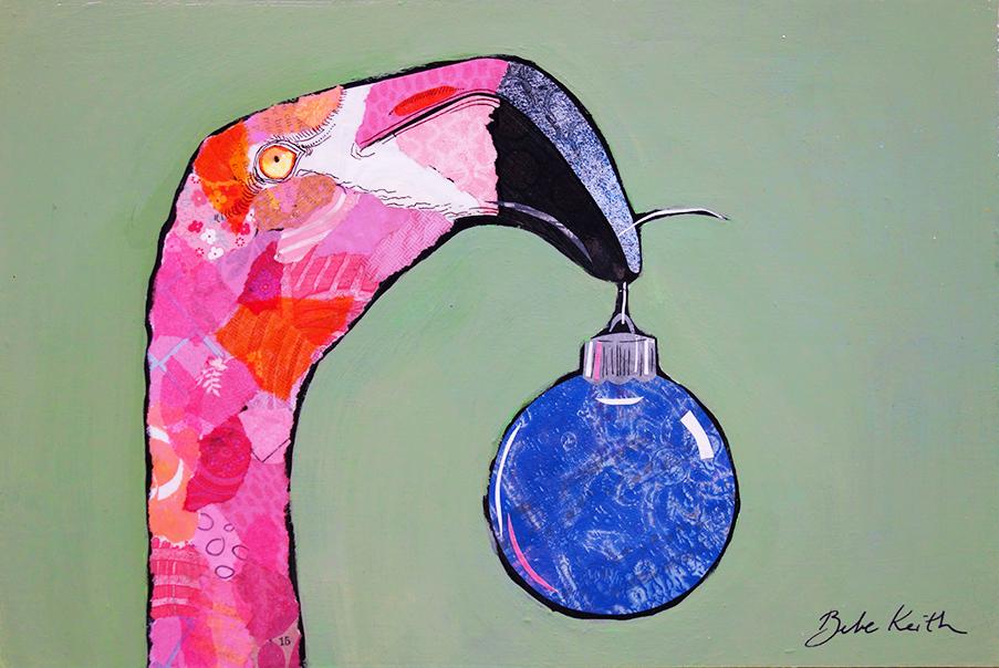Christmas Flamingo 4