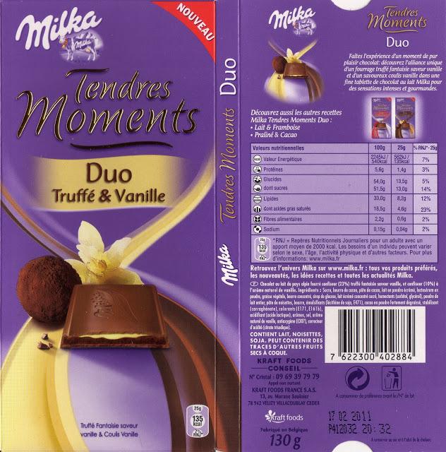 Milka duo truffé et vanille