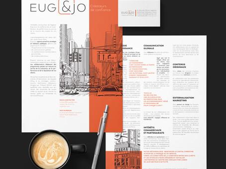 L'identité visuel Eug & Jo by Glumo !