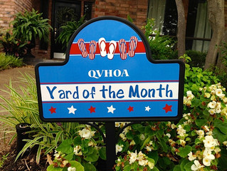 Yard of the Month Update