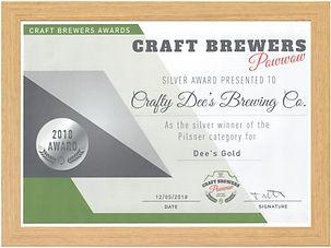 Dee's Gold Award Framed.jpeg
