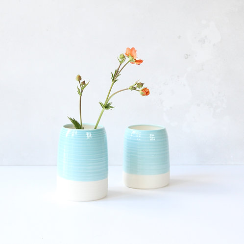 Small Turquoise porcelain vase