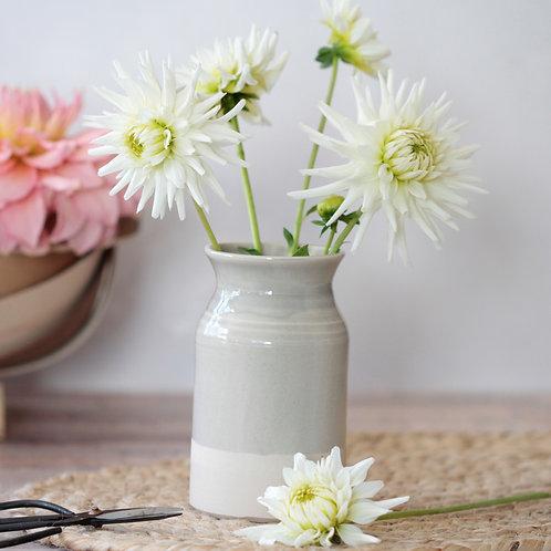 Grey stoneware vase