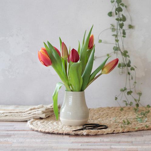 Grey stoneware bud vase