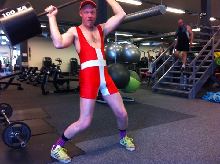 Sjove indslag i fitnesscenter.