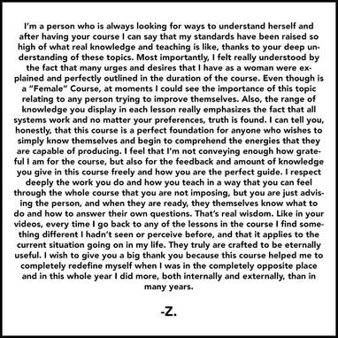 Z. Testimonial
