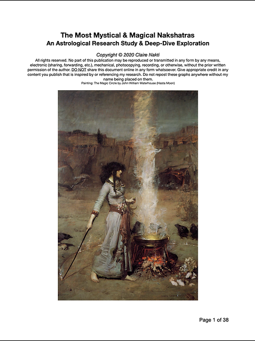 The Most Magical & Mystical Nakshatras Research Study
