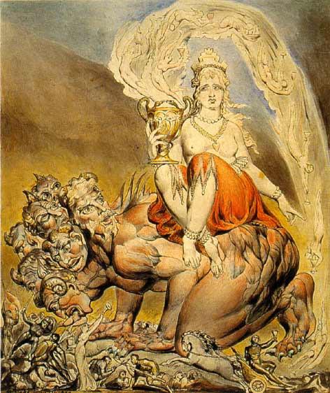 The Whore of Babylon by Willam Blake