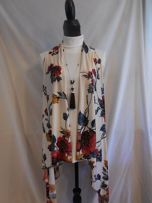 Metallic Flower Shirt-Vest  SV885
