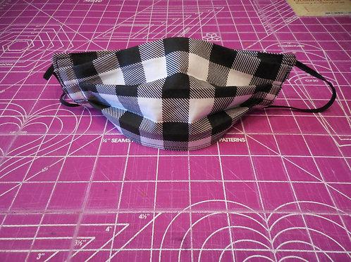 Black & White Plaid Masks  BPM5