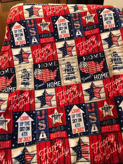 Patriotic Throw Blanket PTB01