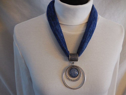 Blue Stretch Necklace