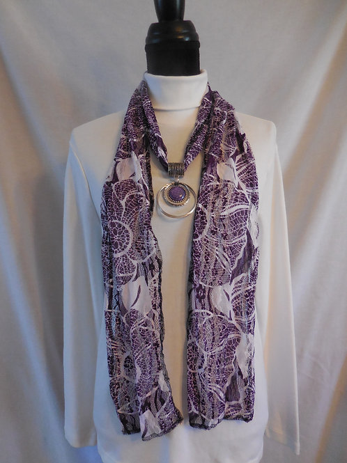 Purple Lace Scarf  LS02