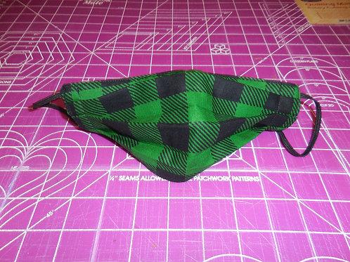 Dark green Plaid Mask DGM01