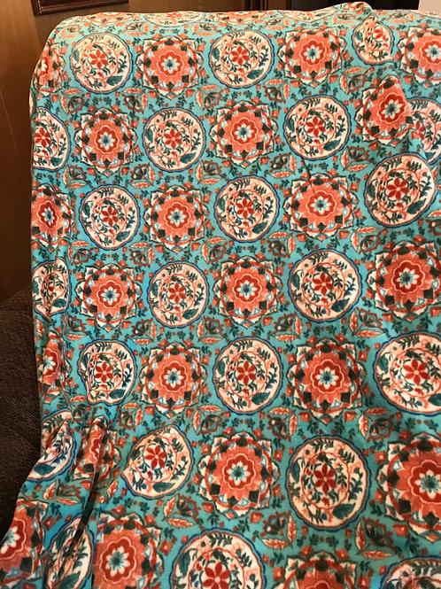 Teal & orange tone throw blanket TB65