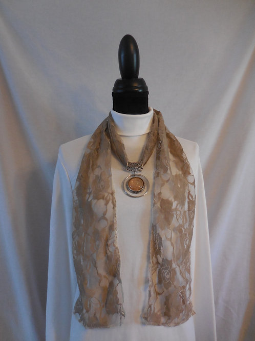 Cream Lace Scarf  LS05