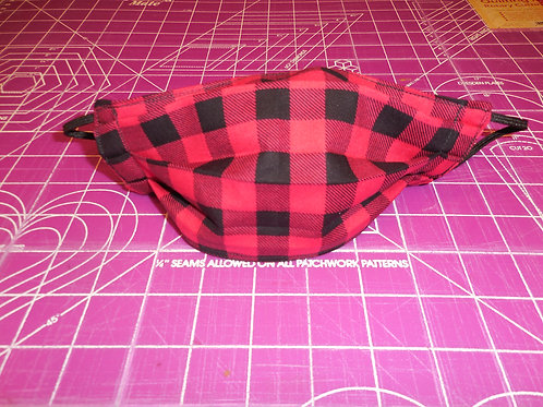 Red Plaid Mask  RPM01