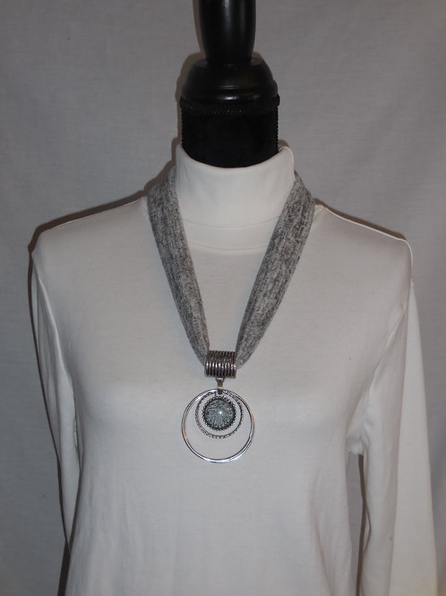 Gray Stretch Necklace  SN218