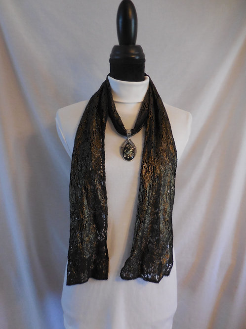 Metallic Lace Scarf  LS03