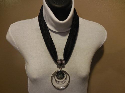 Black Slub Stretch Necklace  SN002