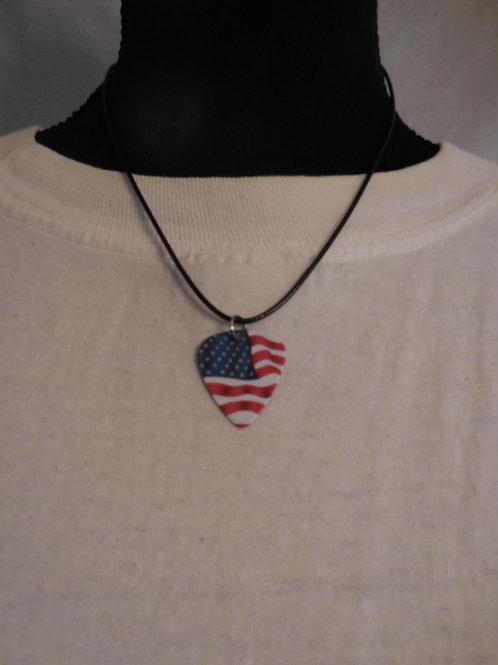 Flag Guitar Pick Necklace  U102