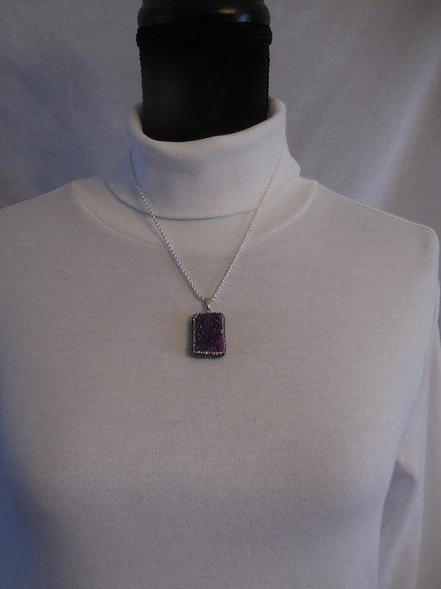 Purple Druzy Stone   DS001