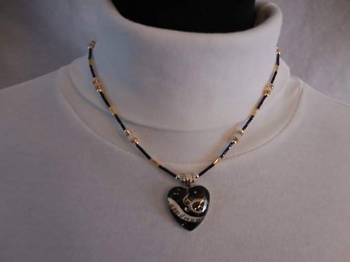 Music heart Necklace  MN002