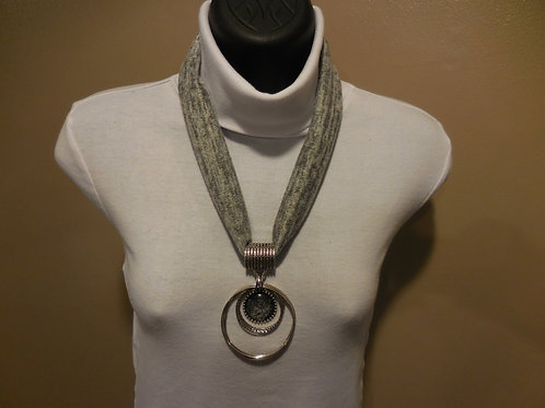 Gray Stretch Necklace  SN001