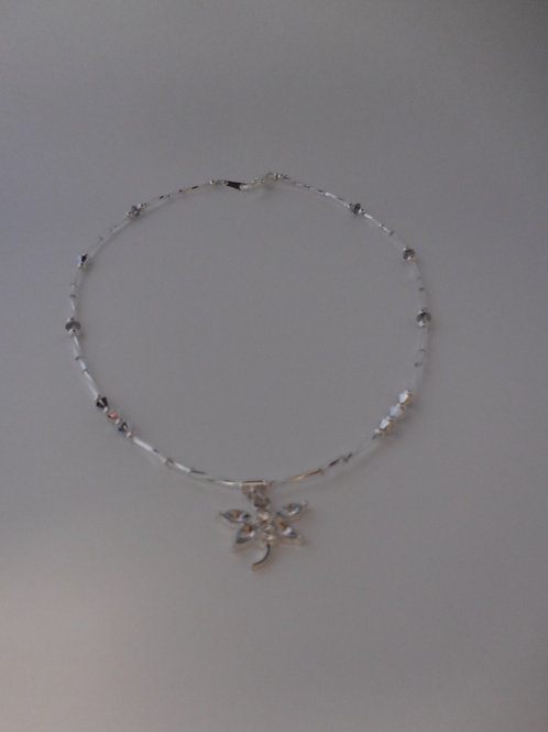Tiny Dragonfly Necklace  N888