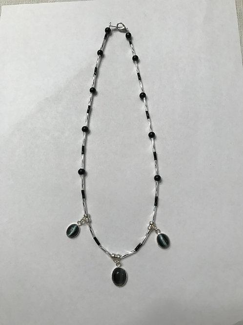 Black Catseye Necklace BCN01