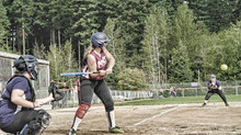 Playing at softball
