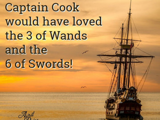 Captain Cook would have loved the 3 of Wands and the 6 of Swords!