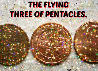 The Flying Three of Pentacles