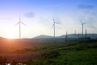 Wind turbines representing yeild increase in sustainable energy