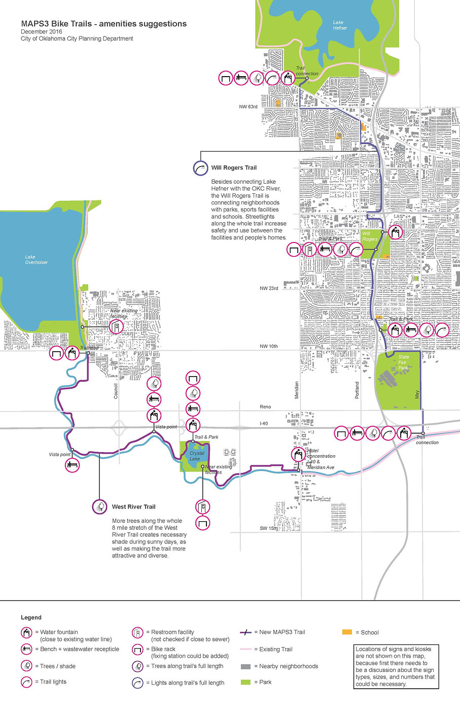 Bicycle trail amenities plan