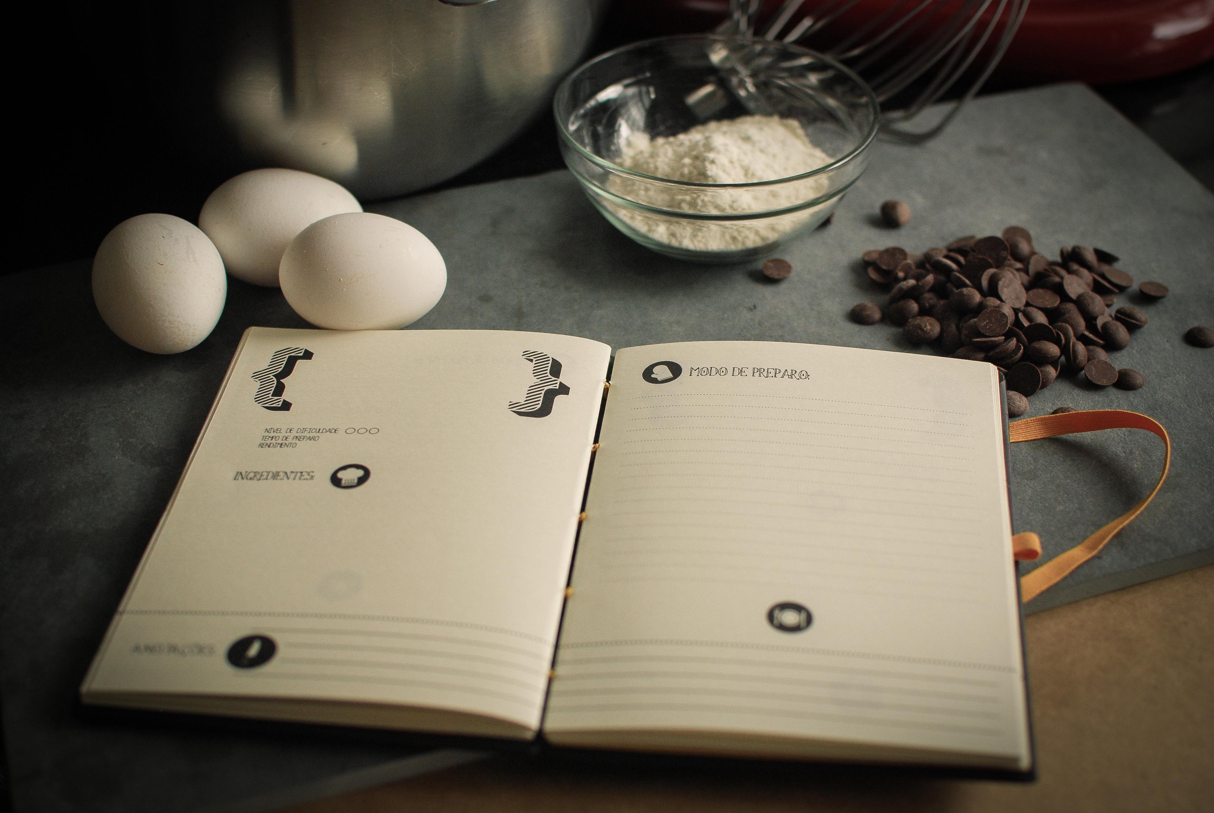 Detalhe caderno de receita