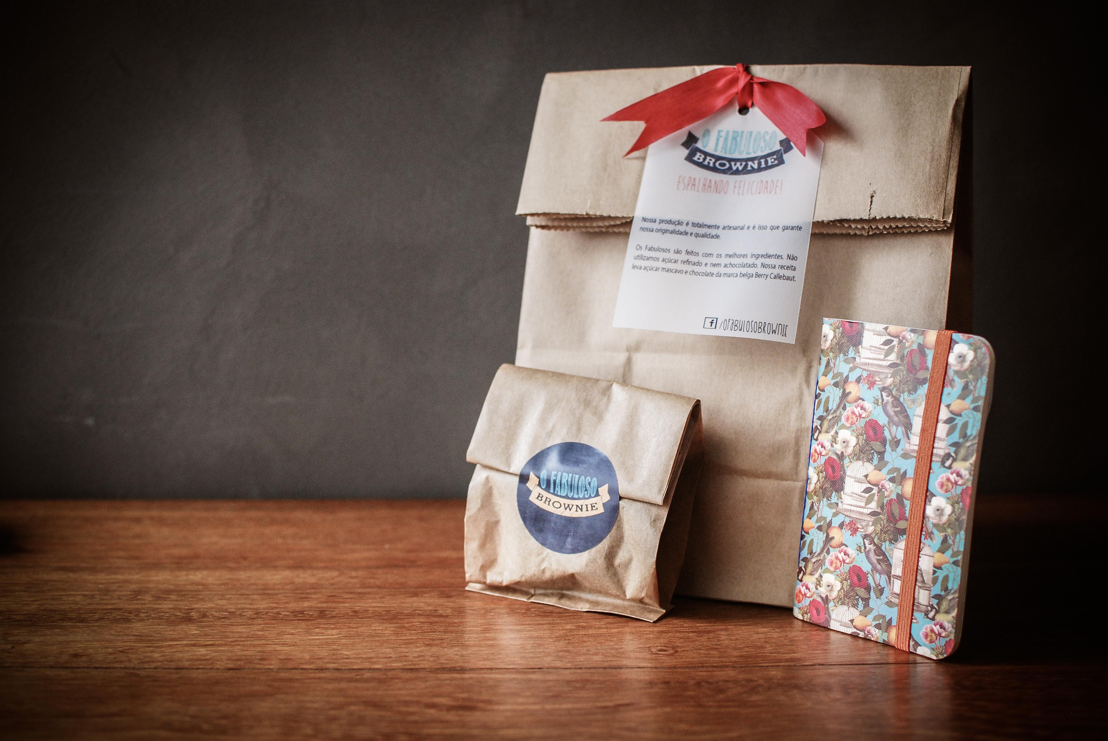 Kit brownies e caderno - Natal 2014