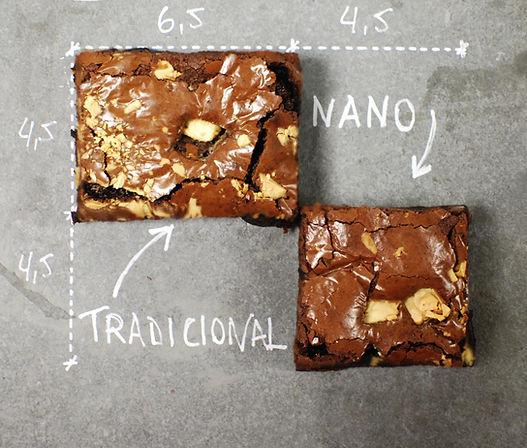 Tamanho brownies