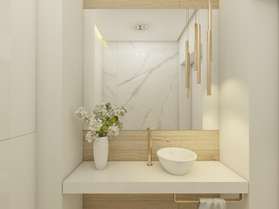 Toaleta na parterze - dom Moskorzew