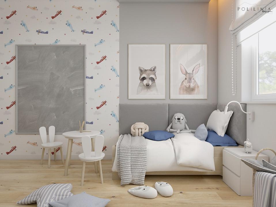 Pokój chłopczyka - dom Mikołów