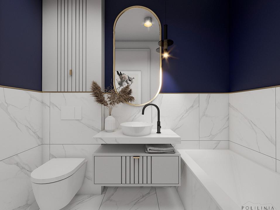 Łazienka przy sypialni - dom Mikołów