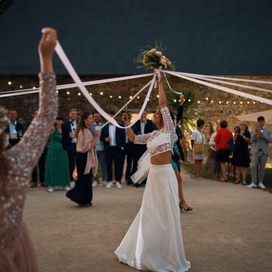 Bouquet rubans mariage