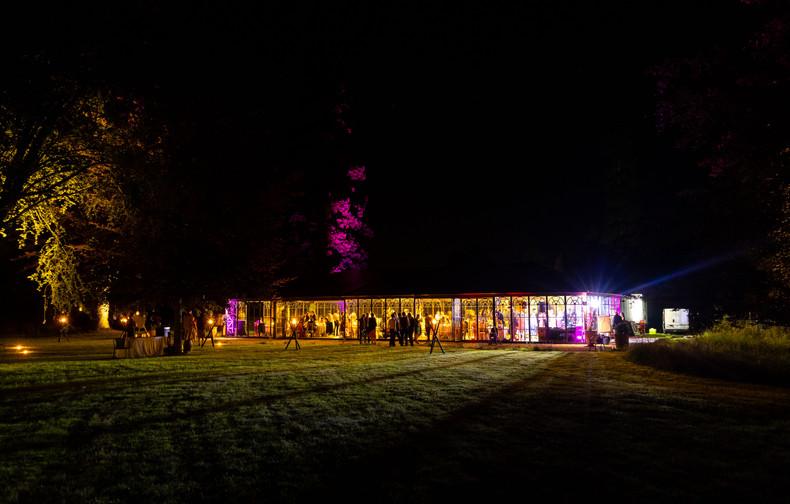 palais de verre de nuit