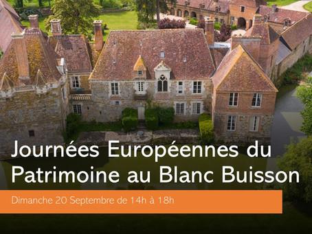 GRANDE RÉOUVERTURE CE DIMANCHE : Les Journées Européennes du Patrimoine !